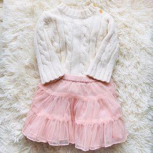 Baby Girl Tutu And Knit Sweater Set